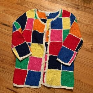 Isaac Mizrahi colorful cardigan sweater - size S